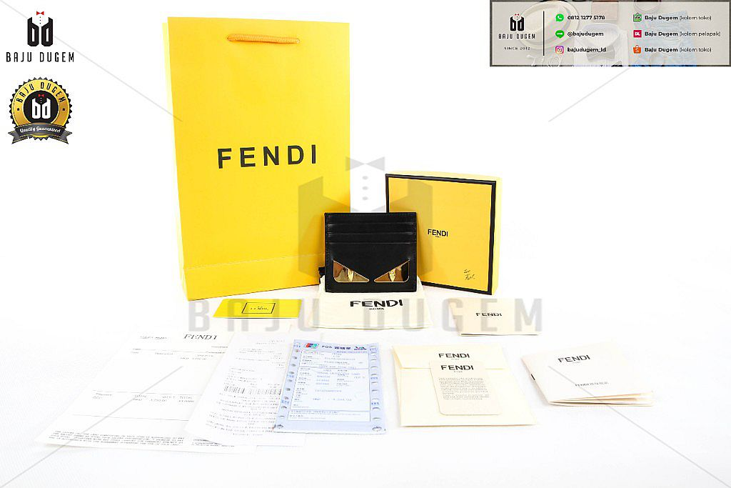 CARD WALLET / DOMPET KARTU FENDI MIRROR 1:1 IMPORT QUALITY ( CW FEN 2)